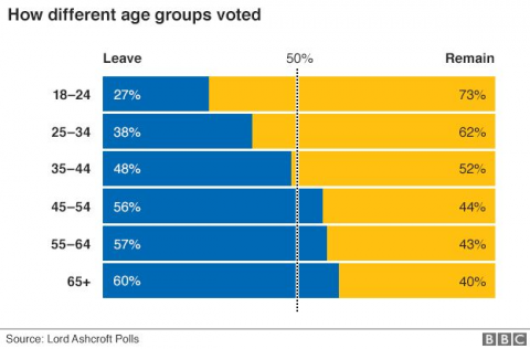 Votes different age groups