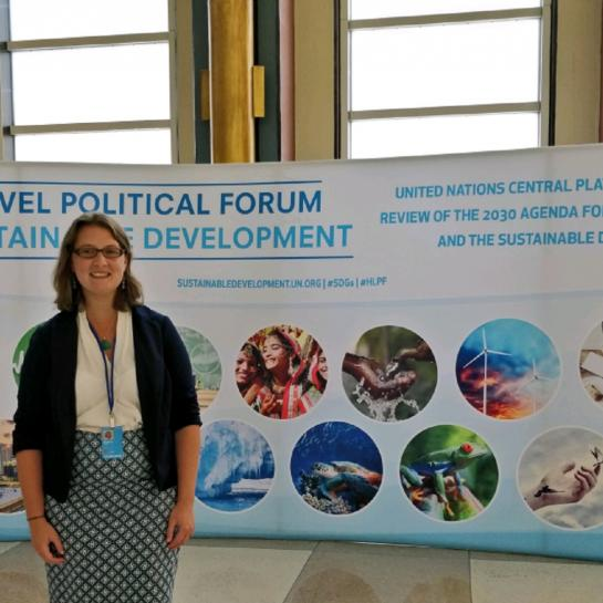 Blog author at HLPF